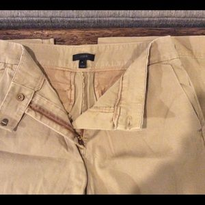 J Crew Khaki Pants Size 4 100% Cotton